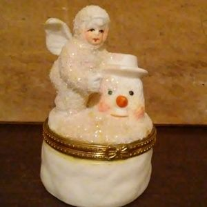 Snow Baby Angel Trinket Box
